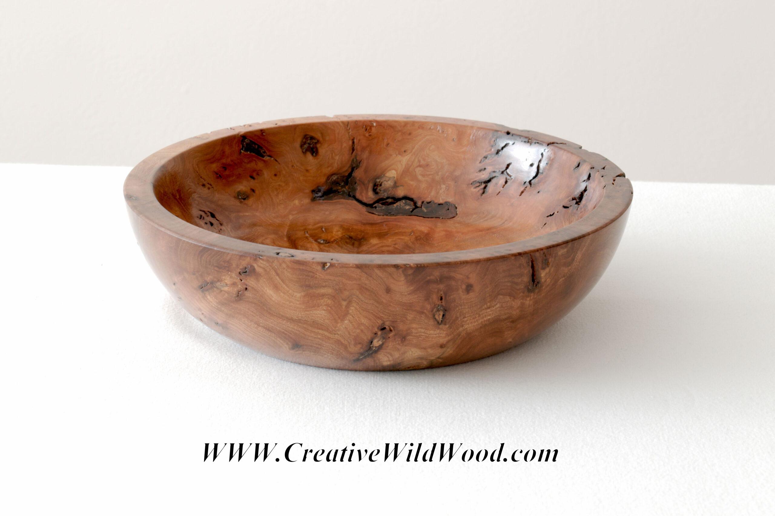 Burr (Burl) Elm Bowl
