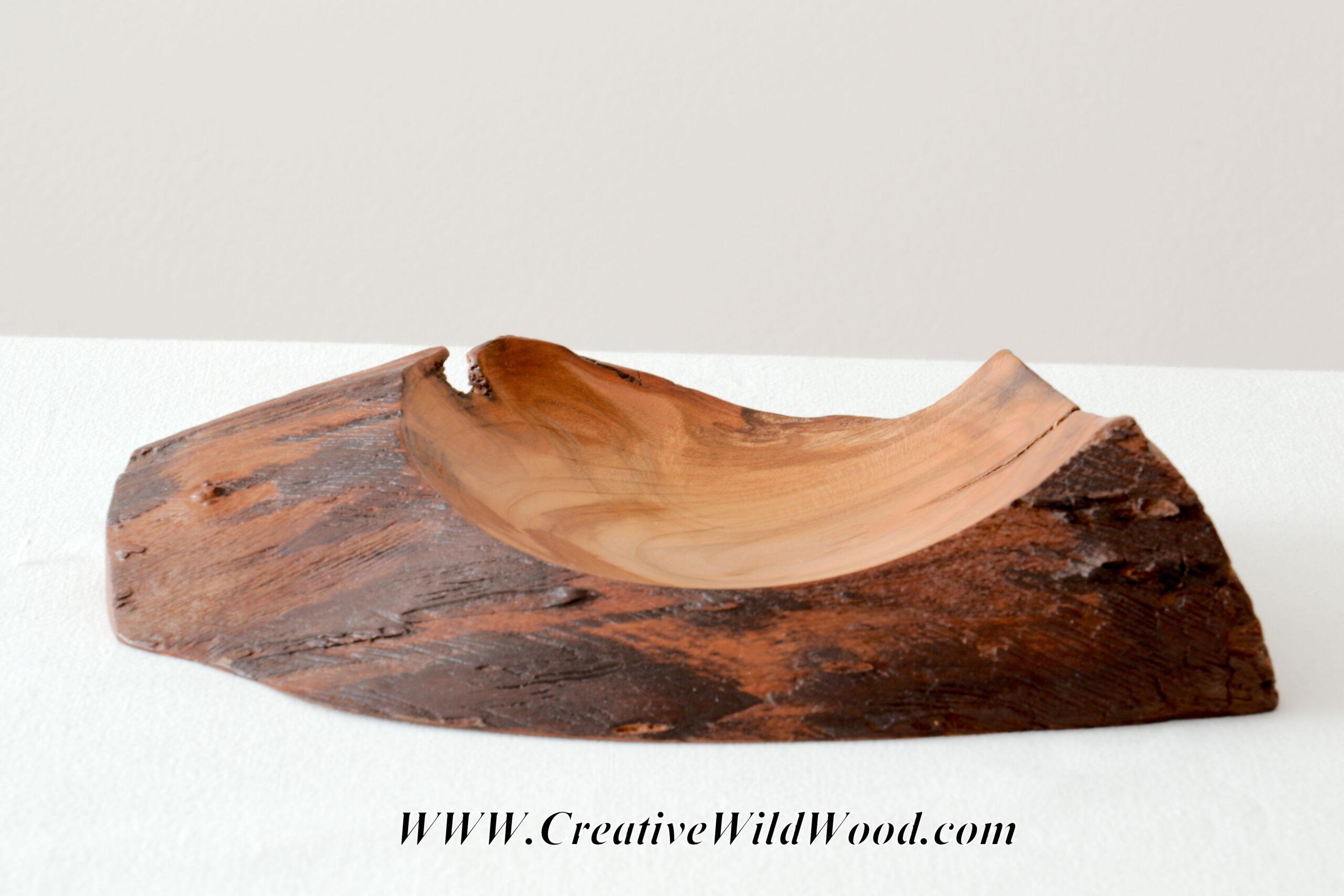 Natural Edge Cherry Wood Bowl