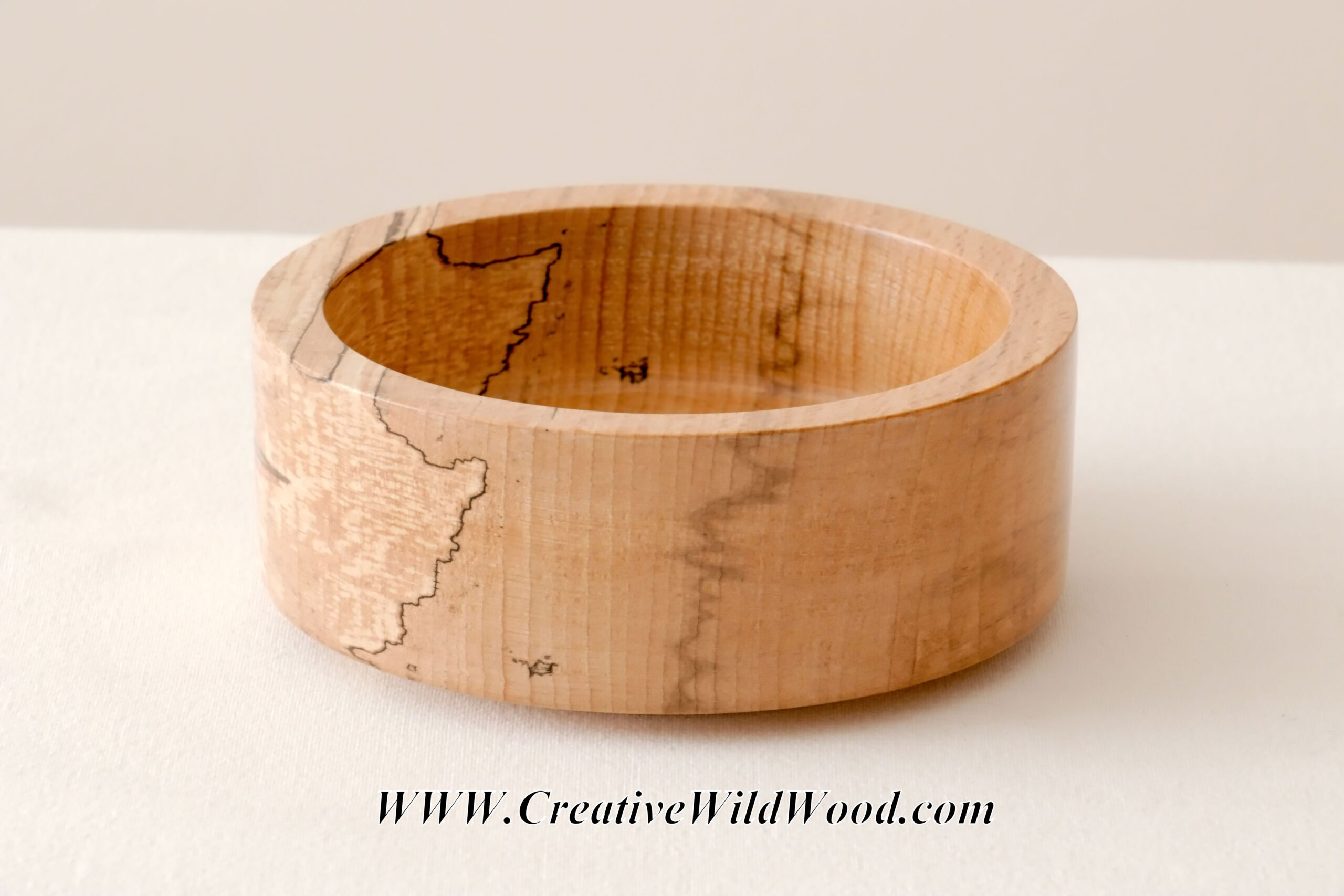 Spalted Ash Snack Bowl