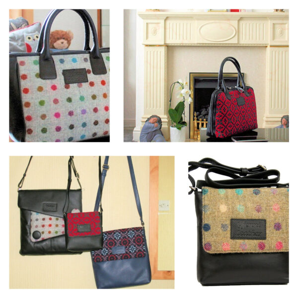 Y Fenni Leather Home Of The Welsh Tapestry Handbag